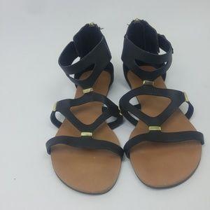 Mossimo Gladiator Sandals Black Size 6